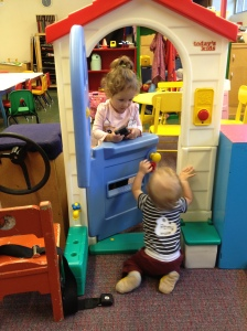 Harper and Remy on the first day of the co-op.